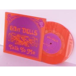 60FT DOLLS talk to me, 7 inch single, orange vinyl