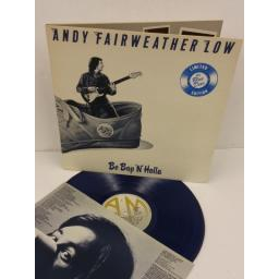ANDY FAIRWEATHER LOW be bop 'n' holla, limited edition, gatefold, blue vinyl, AMLH 64602