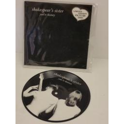 SHAKESPEAR'S SISTER you're history, limited edition NUDE PICTURE, 7 inch single, FPD 112