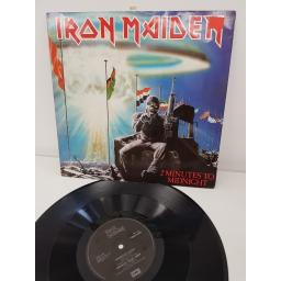 "IRON MAIDEN, 2 minutes to midnight, 12 EMI 5489, 12"" EP/single"
