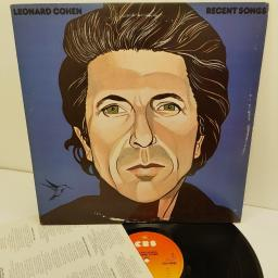 "LEONARD COHEN, recent songs, CBS-86097, 12"" LP"
