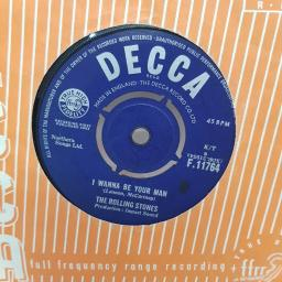 "THE ROLLING STONES, I wanna be your man, B side stoned, F. 11764, 7"" single"