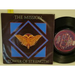 THE MISSION tower of strength, PICTURE SLEEVE, 7 inch single, MYTH 4