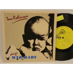 TOM ROBINSON war baby, PICTURE SLEEVE, 7 inch single, NIC 2
