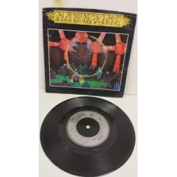 HAWKWIND back on the streets, 7 inch single, CB 299