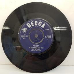 "BRIAN POOLE AND THE TREMELOES, twist and shout, B Side we know, F 11694, 7"" single"