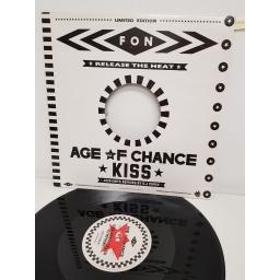 """AGE OF CHANCE - KISS JACK-KNIFE REMIXES , kiss sonic crush symphony and kiss your move america , B side kiss leeds v the bronx and crash conscious, AGE L5, 12"""""""