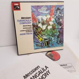 "SOLD : Messiaen / André Previn ‎– Turangalîla Symphony, SLS 5117, 2x12"" LP, box set, quadraphonic"