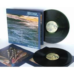 SANTANA moonflower Double album with picture inner sleeves and Santana advert...