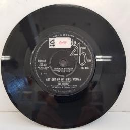 "LEE DORSEY, get out of my life, woman, B side so long, SS 485, 7"" single"