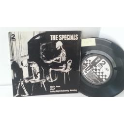 THE SPECIALS ghost town, 7 inch single, CHS TT 17