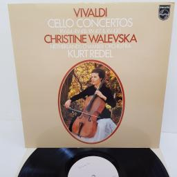 "Vivaldi - Christine Walevska, Netherlands Chamber Orchestra, Kurt Redel ‎– Concertos For Cello, Strings And Continuo, 9500 144, 12"" LP"