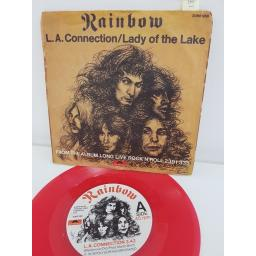 "RAINBOW, L.A. connection, B side lady of the lake, 2066 968, 7"" single RED VINYL"