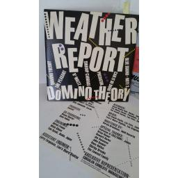 WEATHER REPORT domino theory, track list insert, FC 39147