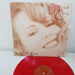 "MARIAH CAREY JOY TO THE WORLD red vinyl 12"" EP CAS 6646"