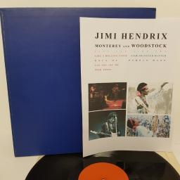 JIMI HENDRIX, monterey and woodstock, like a rolling stone and rock me and can you see me and wild thing, B side star spangled banner and purple haze, 12""