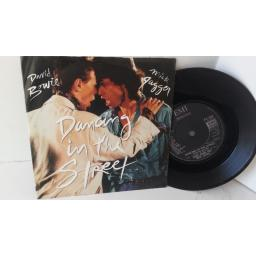 DAVID BOWIE, MICK JAGGER dancing in the street, 7 inch single, EA 204