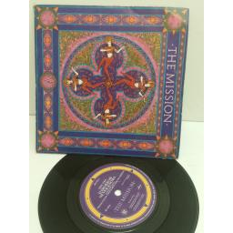 THE MISSION severina, tomorrow never knows. 7 inch picture sleeve. MYTH 3