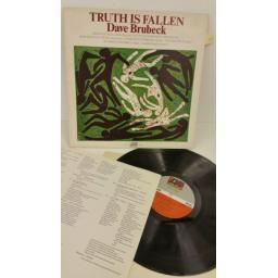 DAVE BRUBECK truth is fallen, lyric insert, K40367