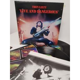 "THIN LIZZY, live and dangerous, 6641 807, 2x12"" LP"