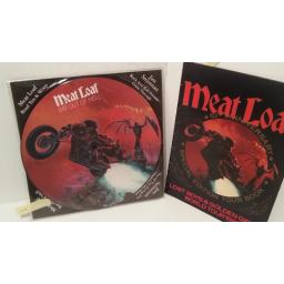 "MEATLOAF bat out of hell, 12"" picture disc with card insert PLUS meatloaf 10th anniversary special edition tour book, 660006"