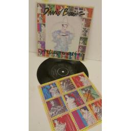 DAVID BOWIE ashes to ashes, 7 inch single, stamps insert, BOW 6