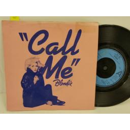 SOLD: BLONDIE call me, PICTURE SLEEVE, 7 inch single, CHS 2414