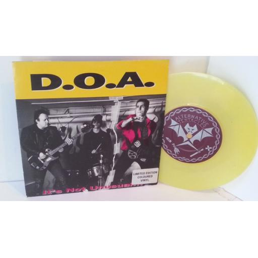 D.O.A. Its not unusual. Ltd edition