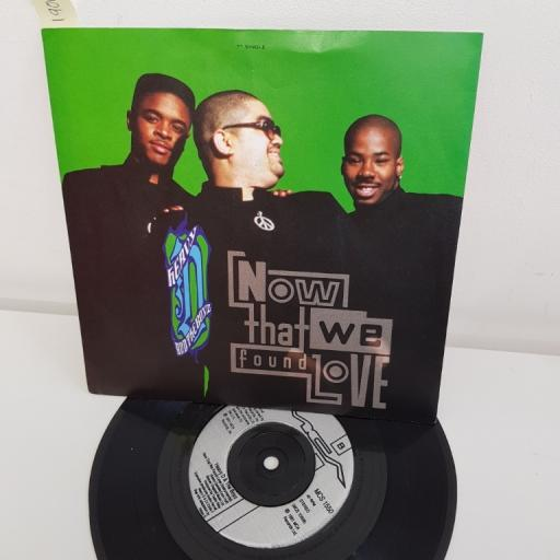"HEAVY D AND THE BOY, now that we found love, B side now that we found love instrumental, MCS 1550, 7"" single"