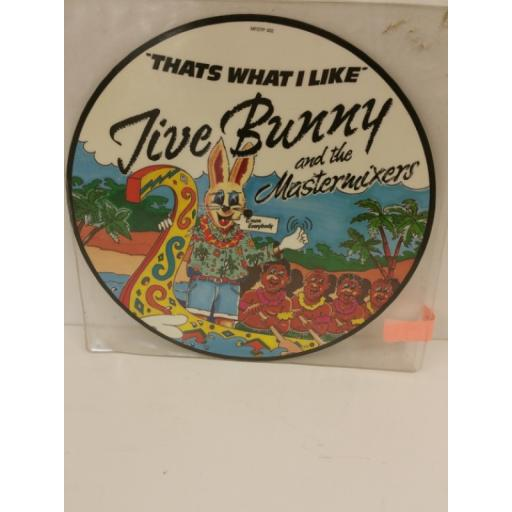 JIVE BUNNY AND THE MASTERMIXERS that's what i like, 12 inch single, picture disc, MFDTP 002