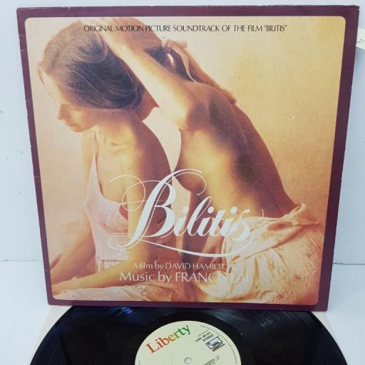 """FRANCIS LAI, bilitis (original motion picture soundtrack), UAS 30161, 12"""" LP"""