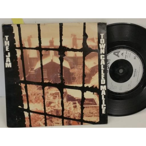 THE JAM town called malice, PICTURE SLEEVE, 7 inch single, POSP 400