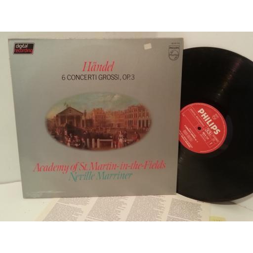 HANDEL, ACADEMY OF ST MARTIN IN THE FIELDS, NEVILLE MARRINER 6 concerti grossi, op. 3, 6514 114