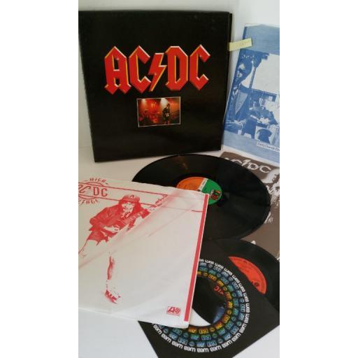 AC/DC 3 record set (high voltage, dirty deeds done dirt cheap, powerage), 3 x lp, 7 inch single, boxset, 60 149