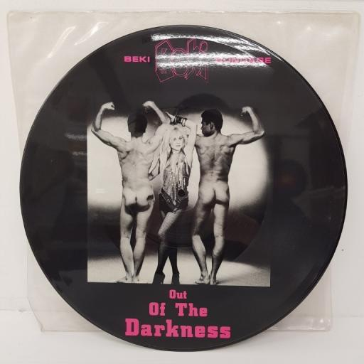 BEKI BONDAGE, out of the darkness overdrive extended edit mix , B side 7 inch mix + you've got it made, 12P LITTLE 5, 12 inch single, picture disc