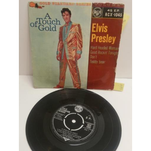 "ELVIS PRESLEY a touch of gold RCX-1045. 4 TRACK EP 7"" picture sleeve single"