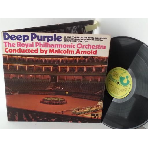 DEEP PURPLE AND THE ROYAL PHILHARMONIC ORCHESTRA live concert at the royal albert hall, SHVL 767, gatefold
