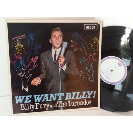 SOLD: BILLY FURY AND THE TORNADOS we want billy, TAB 62