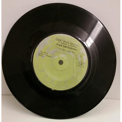 ANGIE LEE SOMMERS / THE VAUGHNS can i ride along / happy days, 7 inch single, OT 018