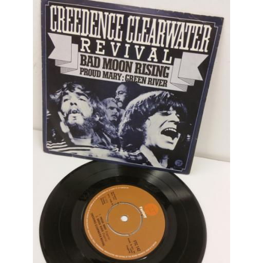 CREEDENCE CLEARWATER REVIVAL bad moon rising / proud mary / green river, 7 inch single, FTC 142