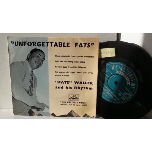 FATS WALLER & HIS RHYTHM unforgettable fats, 7 inch single, 7EG 8255
