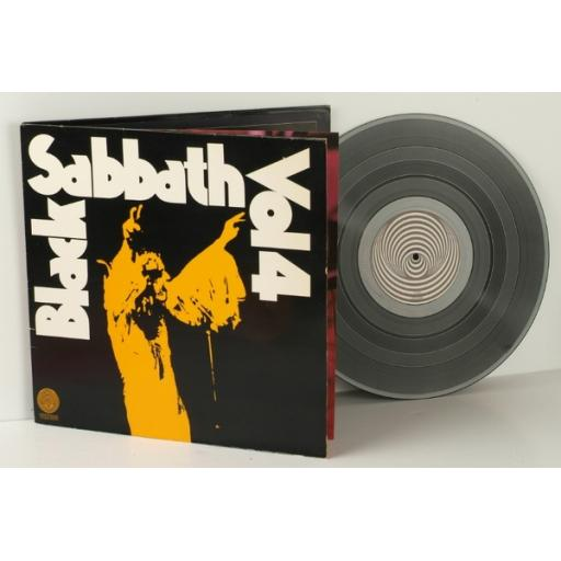 BLACK SABBATH, volume 4. Rare Swirl label. With book attached. First UK press...