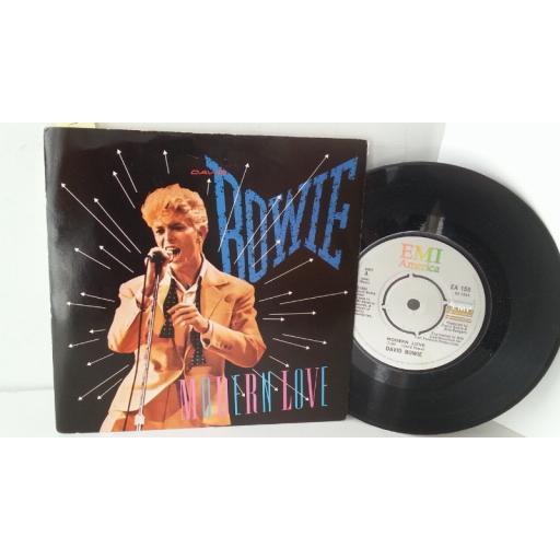 DAVID BOWIE modern love, 7 inch single, EA 158
