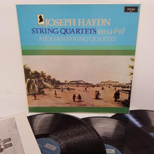 "Joseph Haydn, Aeolian String Quartet – String Quartets (Op. 54 & 55), HDNS 67-69, 3x12"" LP, box set"