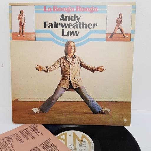 "ANDY FAIRWEATHER LOW, la booga rooga, AMLH 68328, 12"" LP"