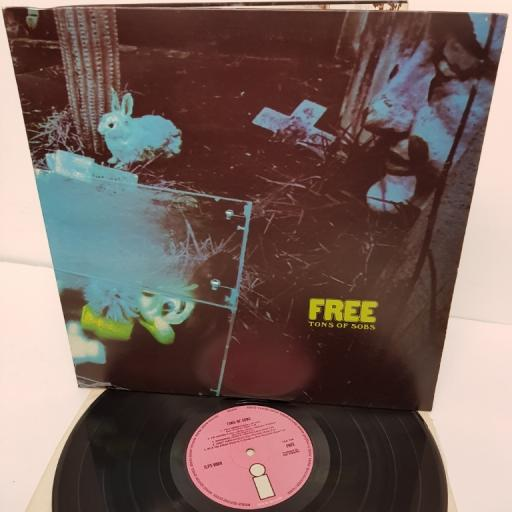 "FREE, tons of sobs, ILPS 9089, 12"" LP"