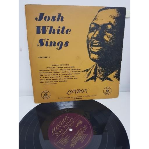 """JOSH WHITE, josh white sings, volume 2, H-APB 1032, 10"""" LP"""