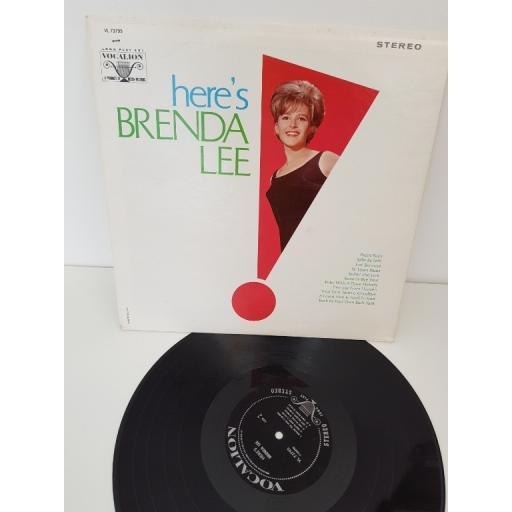 """BRENDA LEE, here's brenda lee, VL73795, 12"""" LP"""