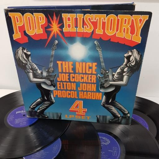 THE NICE, ELTON JOHN LIVE , JOE COCKER, PROCOL HARUM, pop history, R 10004, 4x12 inch LP, compilation, box set