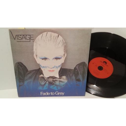 "SOLD: VISAGE fade to grey, 12"" single, POSPX 194"